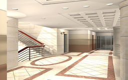 3D hallway Royalty Free Stock Photography