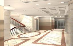 3D hallway royalty free stock photography
