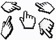 3d hand cursor Royalty Free Stock Images
