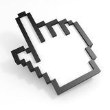 3D hand cursor. Computer generated image Royalty Free Stock Image