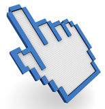 3d hand cursor Royalty Free Stock Photos