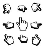 3d Hand cursors icon set. 3d Hand cursors set, 9 icons Stock Photography