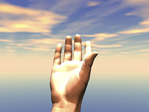 3D Hand reaching Royalty Free Stock Images
