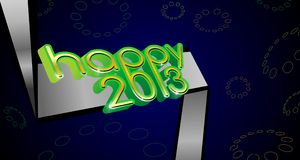 3d happy 2013 web banner. Three dimensional happy 2013 new year web banner Stock Images