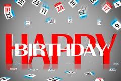3D Happy Birthday Stock Image