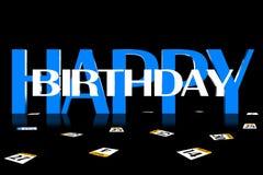 3D Happy Birthday Stock Images