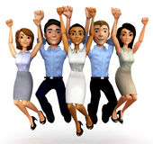 3D Happy business group Royalty Free Stock Photos
