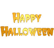 3D Happy Halloween. 3D render of Happy Halloween in orange.  I have this in .png format if you would like it on transparent background. Enjoy Royalty Free Stock Images