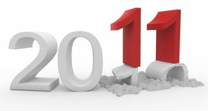 3d Happy New Year 2011. Isolated on white vector illustration