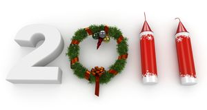 3d Happy New Year 2011 Stock Image