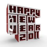 3d Happy New Year 2011 Royalty Free Stock Images