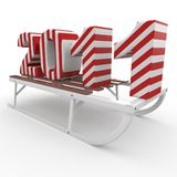 3d Happy New Year 2011 with sleigh Stock Photos