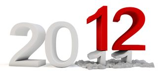 3d Happy New Year 2012. On white background vector illustration