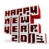 3d Happy New Year 2013. On white background Royalty Free Stock Image