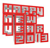 3d Happy New Year 2013. On white background Royalty Free Stock Photography