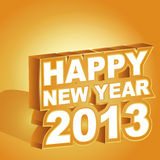 3D  , Happy new year 2013. Vector illustration, 3D  , Happy new year 2013 Royalty Free Stock Photography