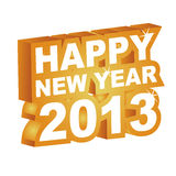 3D  , Happy new year 2013. Vector illustration, 3D  , Happy new year 2013 Royalty Free Stock Photos
