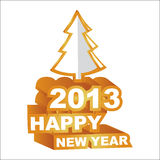 3D  , Happy new year 2013. Vector illustration, 3D  , Happy new year 2013 Stock Photography