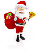 3D Happy Santa Claus Stock Photos