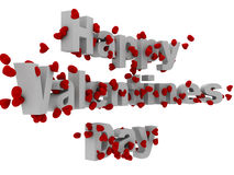 3d happy valentine day text Stock Photo