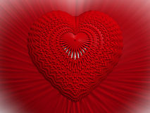 3D hart Stock Afbeelding