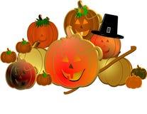 3d hat pilgrims pumpkins Στοκ Εικόνες