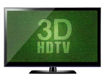 3D HDTV Royalty Free Stock Photos