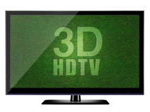 3D HDTV with white background Royalty Free Stock Photography