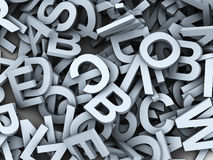 3d heap of alphabets. 3d render of heap of alphabets Royalty Free Stock Image