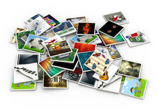 3d heap of images Stock Photography