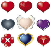 3D heart. Heart, various 3D heart, st. Valentine, tattoo ornament, model tattoo Stock Photo