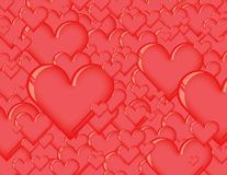 3d heart background. 3d glass heart background image Stock Illustration