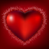 3D Heart Burst Background. EPS 8. File included Royalty Free Stock Photography