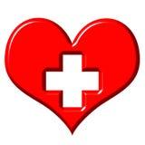 3D Heart Health vector illustration
