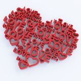 3d heart-like composition. Royalty Free Stock Photos