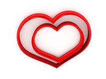 3d heart over white background. Computer generated image Stock Images
