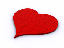 3D Heart Puzzle Royalty Free Stock Photos
