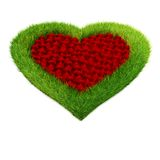 3D Heart shape garden Stock Image