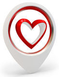 3d heart shape  Love you symbol, Valentine's day abstract Stock Image