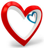 3d heart shape  Love you symbol, Valentine's day abstract Stock Photography