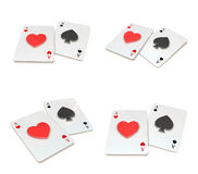 3d heart and spade array Royalty Free Stock Images
