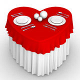3d heart table royalty free illustration