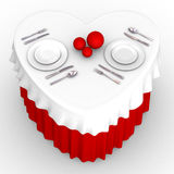 3d heart table Royalty Free Stock Photos