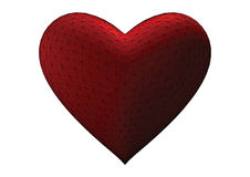3d heart - vector. 3d heart rendered in white background, vector Royalty Free Stock Photos