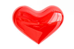 Glossy red love heart Royalty Free Stock Photography