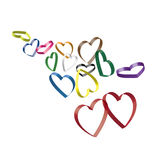 3d hearts Royalty Free Stock Images