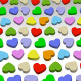 3D hearts. Color 3D hearts, background illustration Stock Photos