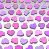 3D hearts. Background illustration, pink and purple Royalty Free Stock Photos