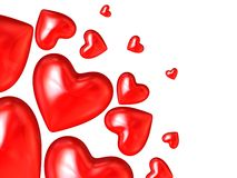 3d hearts Royalty Free Stock Image