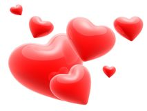 3d hearts Stock Photography